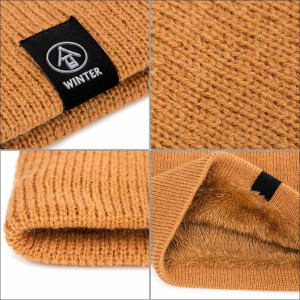 Knitted wool scarf plain weave men's and women's warm pullover scarf neutral plus velvet scarf pure color scarf