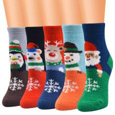 Neue Weihnachtssocken, Damensocken, Weihnachtssocken, Korallenvlies Weihnachtssocken, Weihnachtssocken, Damensocken