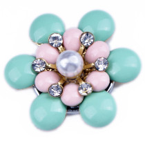 20MM Metal button pearl  fit 20mm snap jewelry