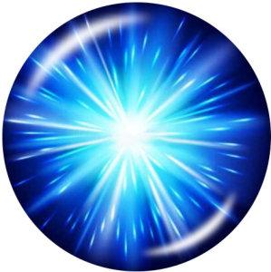 20MMブルーライトクロスパターンプリントガラススナップボタン