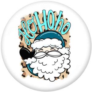 20MMクリスマスラブサンタクロースプリントガラススナップボタン