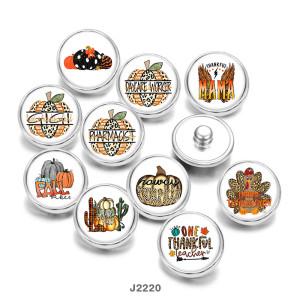 20MM感謝祭MAMAプリントガラススナップボタン