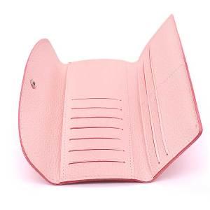 Женский карточный футляр-кошелек длинный кожаный на куски 18 мм