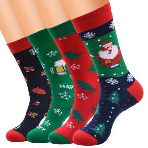 Рождественские носки женские новые мужские средней длины удлиненные