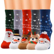 Weihnachtssocken-Serie Damensocken Weihnachtssocken Korallenfleece Weihnachtssocken Weihnachtssocken für Damen Bodensocken