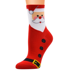 Рождественские носки, носки с героями мультфильмов, женские хлопковые носки, носки, женские носки, хлопковые носки с изображением лося и снеговика