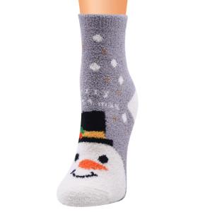 Серия рождественских носков Женские носки Рождественские носки Коралловый флис Санта-носки Рождественские женские носки Носки до пола