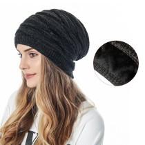 Sombrero de punto de lana para hombres y mujeres del mismo estilo, cálido y terciopelo, sombrero de ocio al aire libre, tejido de diamantes