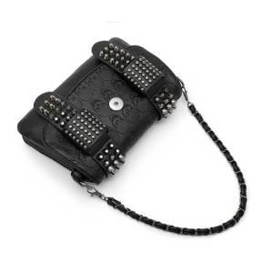 レディースバッグリベットスカルバッグレディースバッグショルダーバッグダイアゴナルバッグは18mmのチャンクにフィットします