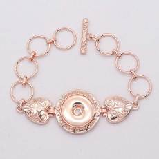 1 boutons plaqué or rose bracelet pression fit snaps bijoux