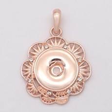 Bijoux à bouton-pression en or rose Pendentif bricolage pour boutons-pression de 20 MM