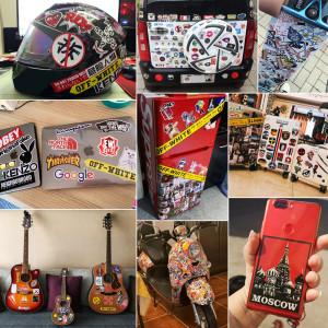 セレナゴメスの落書きステッカー50枚、パーソナリティスターのDIYスケートボードステッカー、PVCラゲッジステッカー