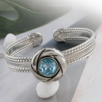 20MM snap Mar. birthstone bleu clair KC5678 snaps interchangeables bijoux