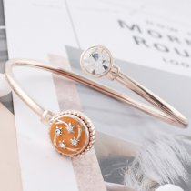 12MM star rose gold Plated with  rhinestone and orange enamel KS6339-S
