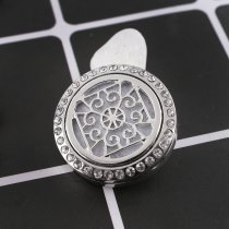 25mm white alloy Aromatherapy/Essential Oil Diffuser Perfume Locket snap with 1pc mix color discs as gift KC9656