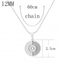 A loving heart head silver pendant Necklace with 60CM chain KS1275-S fit 12MM chunks snaps jewelry