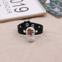 20MM Cartoon Painted enamel metal C5591 print snaps jewelry