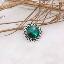 20MM snap May Birthstone vert KC6578 Snaps interchangeables bijoux