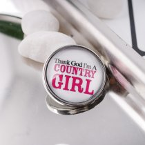 20MM snap glass Country girl C0970 interchangeable snaps jewelry