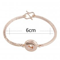 snap Rose Gold bracelet fit 12MM snaps style jewelry KS1145-S