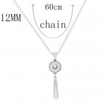 Pendant Necklace with 60CM chain KS1258-S fit 12MM chunks snaps jewelry