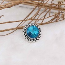 20MM snap Dec.birthstone blue KC6585 snaps interchangeables bijoux