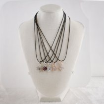 Discount sale 45CM leather Chain with Pendant fashion necklace