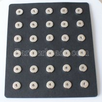 PU leather display for 18-20MM snaps chunks