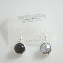 Fit 12mm Snaps plate Silver Earring