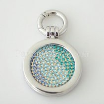 metal spring ring clasp fit coin locket