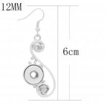 snap earring fit 12MM snaps style jewelry KS1254-S
