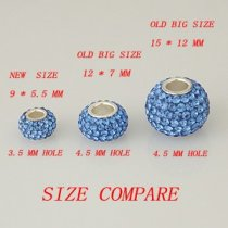 Small size STELLUX Austrian crystal Rhinestone beads 9*5.5MM with 3.5 MM hole