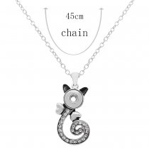 Pendant Necklace with 45CM chain KS1248-S fit 12MM chunks snaps jewelry