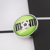 20MM snap glass Soccer mother C1034 interchangeable snaps jewelry