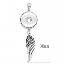 sliver Pendant with  fit 20MM snaps style jewelry KC0431