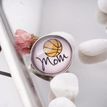 20MM snap glass Basketball mother C0986 interchangeable snaps jewelry