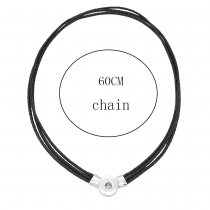 The magnet can be adjusted flexibly Necklace with 60CM chain KC1073 fit 20MM chunks snaps jewelry