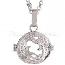 Angel Caller constellation ZODIAC-Pisces Necklace fit 16mm balls exclude ball AC3788S