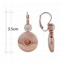 Snap Rose Gold Ohrring mit Strass Fit 20MM Snaps Style Schmuck KC1039
