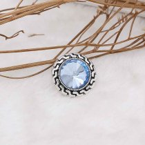 20MM snap Mar. birthstone bleu clair KC6576 snaps interchangeables bijoux