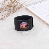 20MM Painted Starry sky design enamel metal C5726 print snaps jewelry