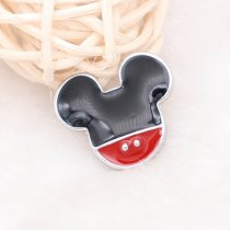 20MM Cartoon snap silver Plated with black  enamel KC5722 snaps jewelry