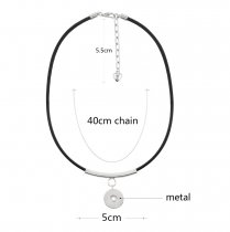 Leather Necklace 45CM KC0991 fit 18mm chunks snaps jewelry