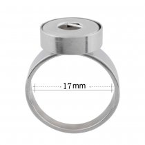 18MM 7 # broches Ajuste de anillo de acero inoxidable Dedos gruesos 17mm