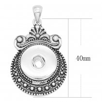 sliver Pendant with  fit 20MM snaps style jewelry KC0432