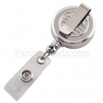 Metal Badge Reel ID holder, retractable badge holder Stretchable to 60CM Fit 18/20mm snaps KC1169 snaps jewelry