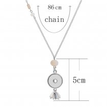 Acrylic silver pendant Necklace with 80CM chain KC1099 fit 20MM chunks snaps jewelry