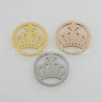 25MM stainless steel coin charms fit  jewelry size crown
