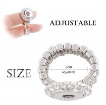 12MM snaps adjustable Ring with Rhinestone KS1123-S snaps jewelry