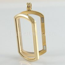 Stainless steel floating charm locket can open